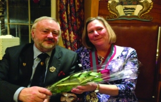 A rose for my lady...Liveryman and Consort David Moore gets all romantic with the Master