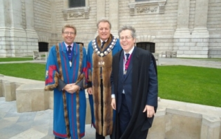 Senior Warden Graham Ballinger Master Gary Hopkins and Clerk Tim Statham