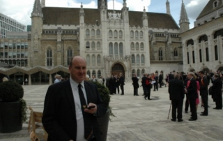 Liveryman Andy Williamson arrives early to vote