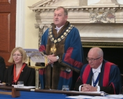 Brian Blanchard in his first speech as Master of WCoBM