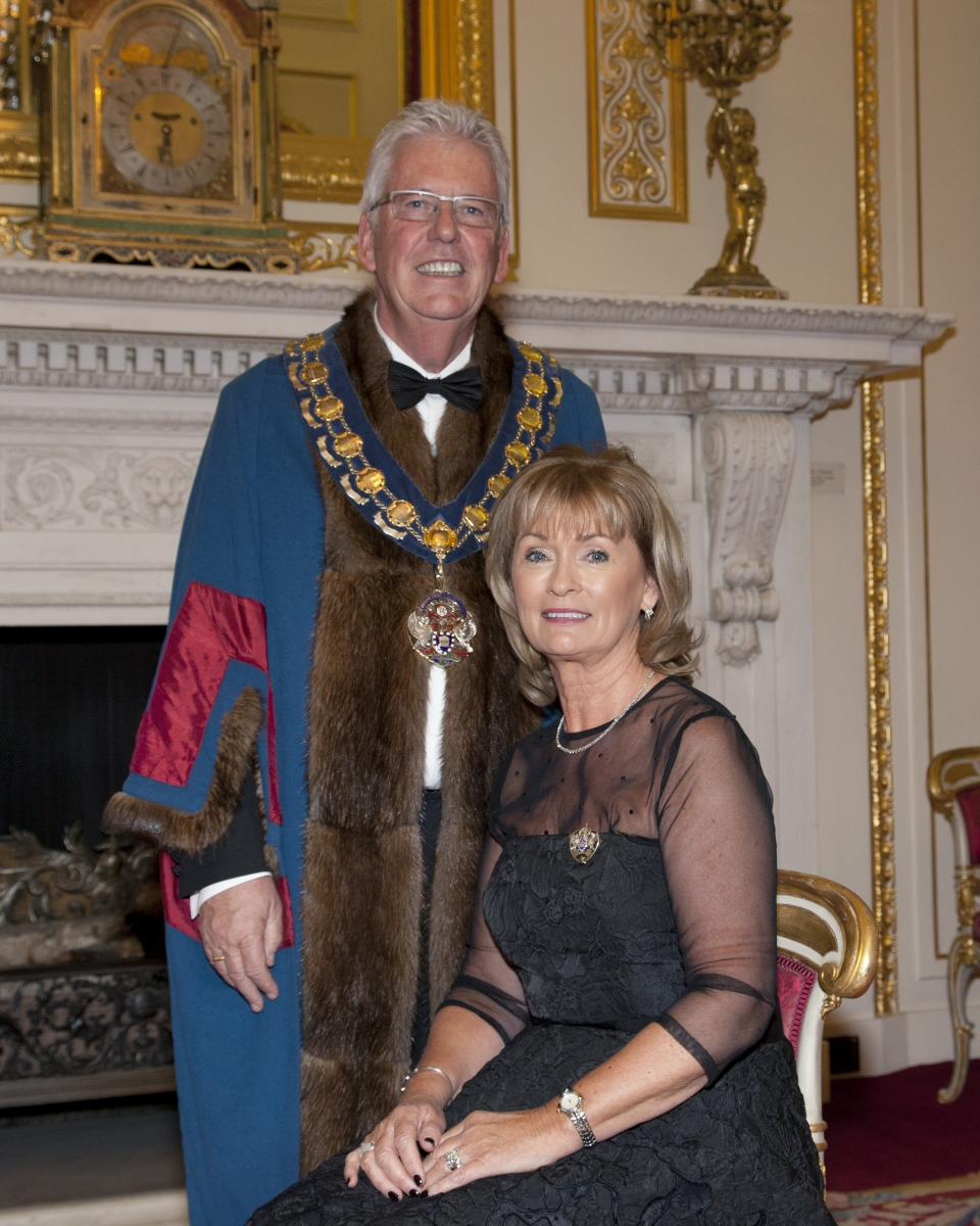 The Master with his wife Deirdre