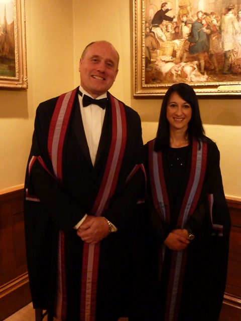 Steve Mascall Lucia Di Stazio installed as Liverymen